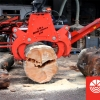 Woodbuster 870 wood cleaver and Hakki Pilke Easy 42 electric with Hakki Pilke Hakkifeed 422 log deck