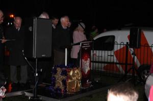 Traditional Christmas message and prayers at Ballyrobert  Christmas lights switch on ceremony 2013