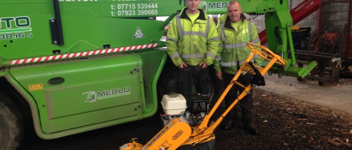 Elagh Tree Services taking delivery of thier 900H pedestrain stump grinder