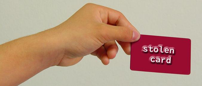 stolen credit card image